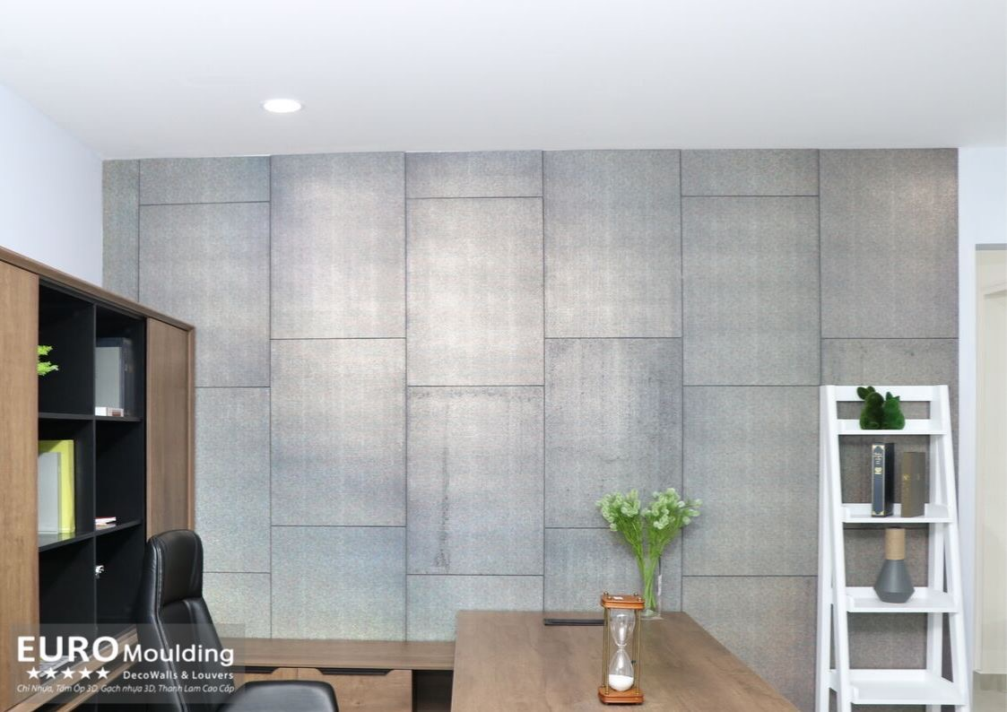 Gạch nhựa 3D - tấm ốp tường thay thế cho vật liệu truyền thống như gạch ốp lát