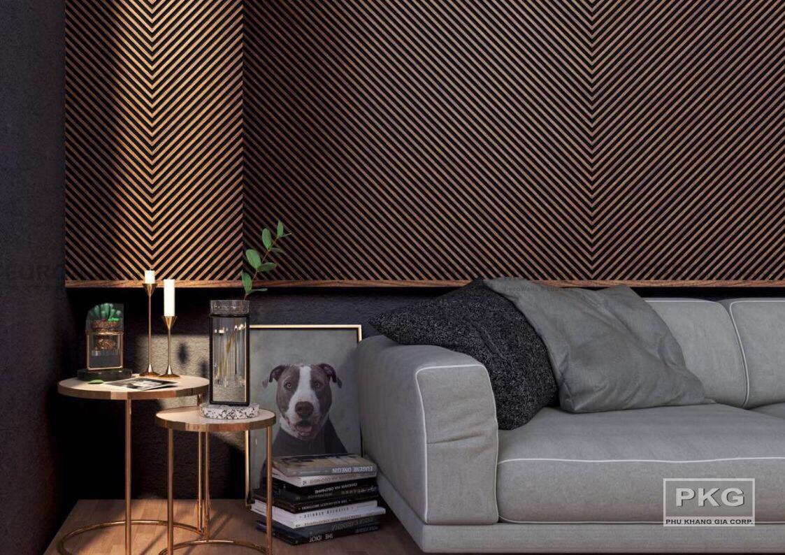 Lam gỗ nhựa trang trí vách nhà độc đáo